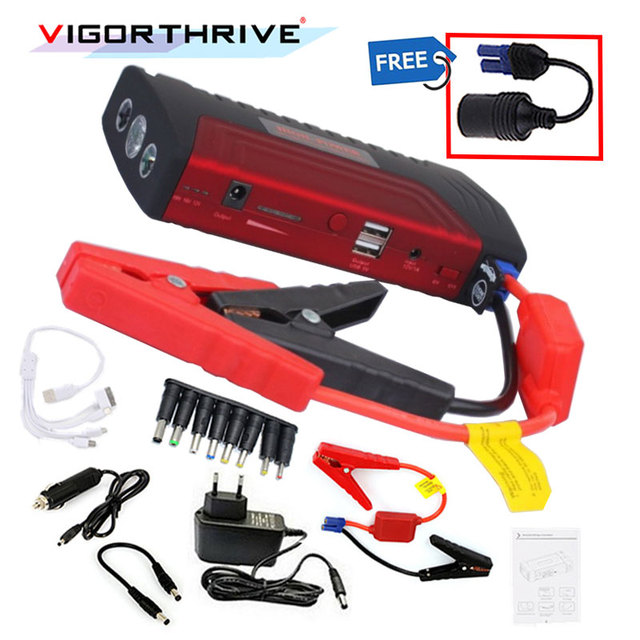 Car Jump Starter Auto Battery Booster Power Bank Peak Portable 600A 12v  For Petrol car Mini Emergency Starting Device