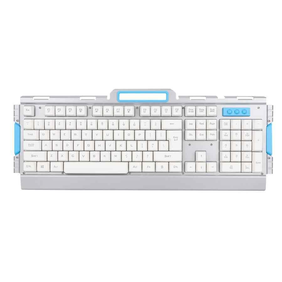 Белый 2,4 ГГц Беспроводная оптика игровая клавиатура и мышь набор для настольного ПК ноутбука 2019
