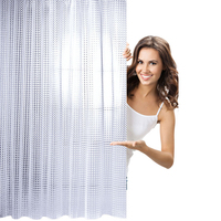 LFH Hotel Family Waterproof Mold Curtain Shower Bathroom Tool Anti Mites 180 180 Solid Color Modern