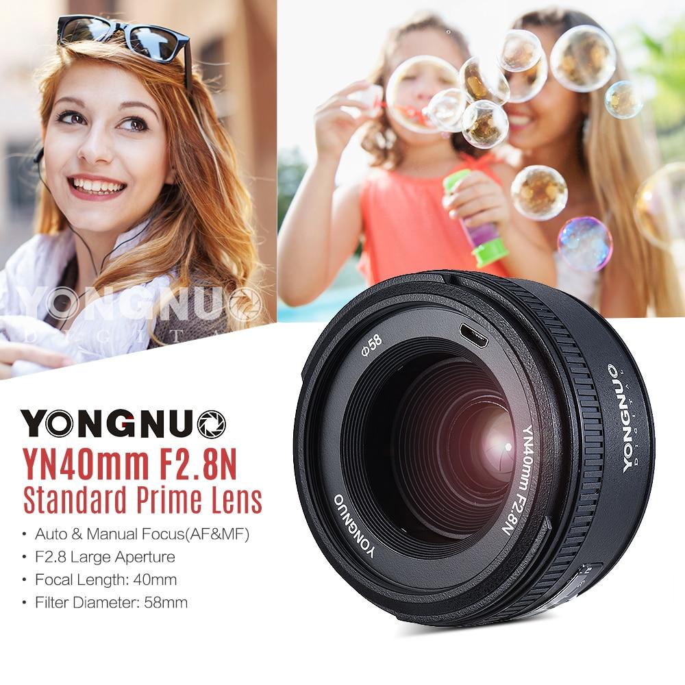 YONGNUO YN 40mm F2 8N AF MF Lens YN40mm Wide Angle Prime Auto Focus Lenses For