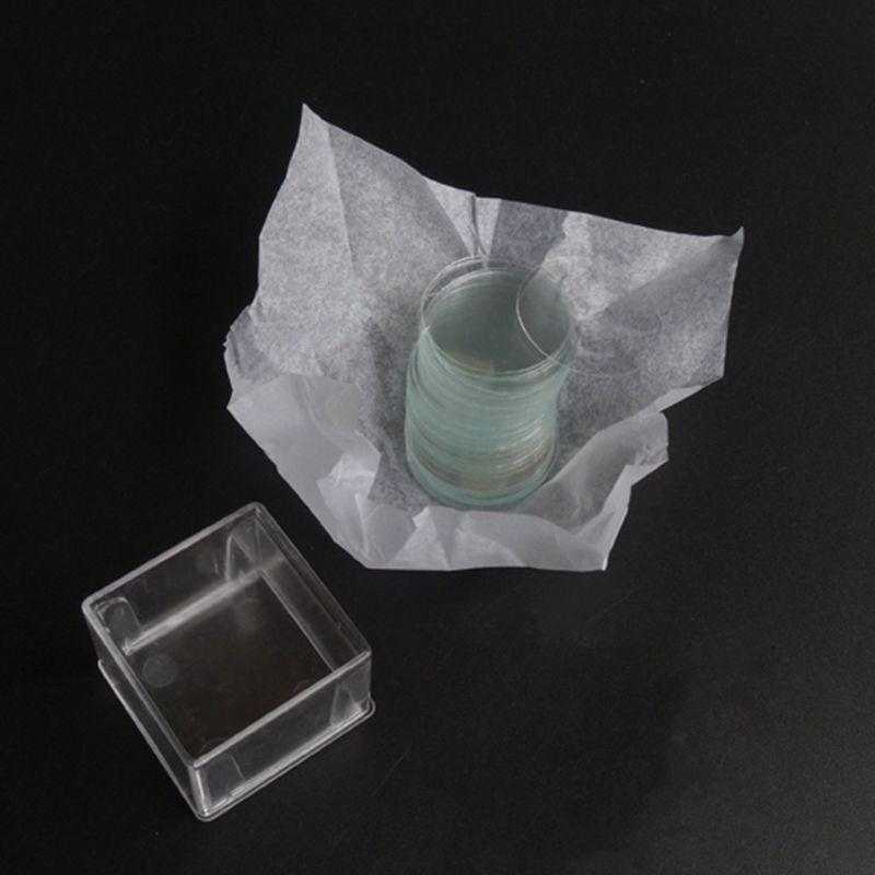 10 Boxes 14mm Round Microscope Glass Slide Cover Slips Blank Slides  Coverslip Thickness 0 13 - 0 17mm