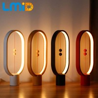 LMID Heng Balance Lamp LED Night Light Magnetic Suspension Creative Night Lamp Home Decoration Bedroom Bedside Reading Light