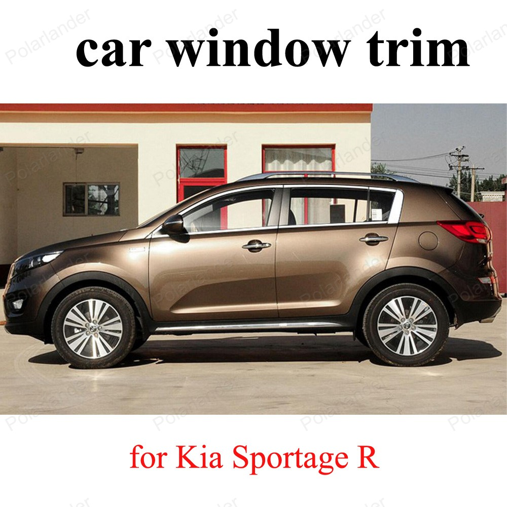 For K-ia Sportage R Sill Strip Exterior Car Accessories Stainless Steel Window Trim Car Styling 20 pcs stainless steel exterior side window