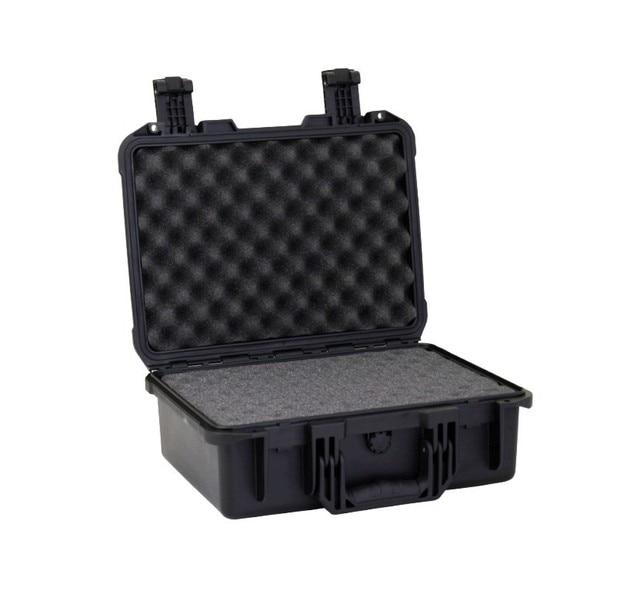 SQ021 Inner size 380x267x157mm  black Strong military equipment plastic toolbox wth full die cut foam