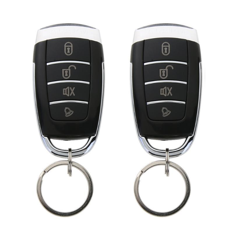 Universal 12V Car Burglar Alarm Central Door Lock Keyless Security System With Remote Controllers Car Alarm System Car Styling