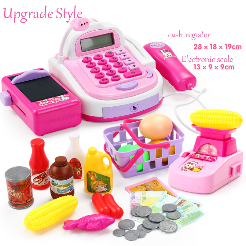 Pretend Play Simulation Electronic Supermarket Cash Register Machine Toys Educational Miniature Furniture Toys For Girl Gifts Multan