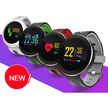 Получить скидку Фитнес трекер Для женщин Смарт-часы Для мужчин Q8 Pro SmartWatch Водонепроницаемый браслет сердечного ритма Мониторы Спорт браслет для iOS и Android