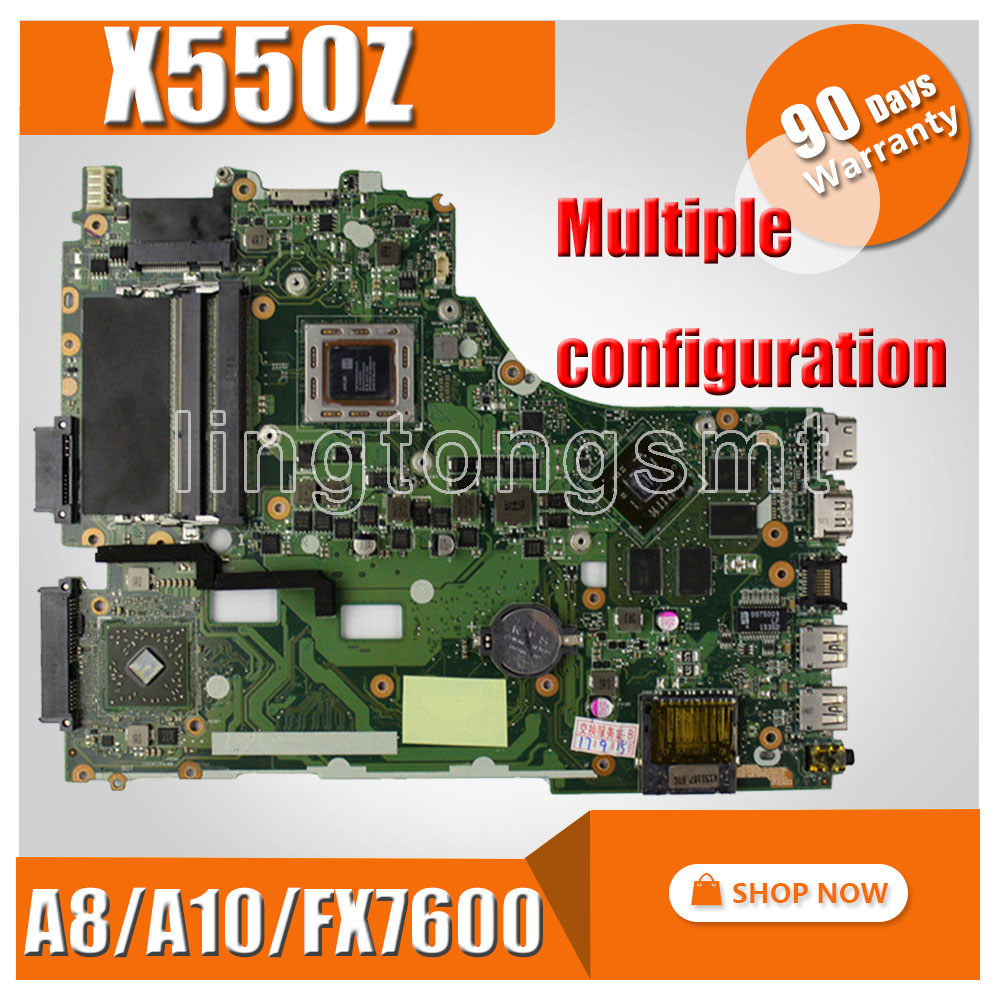 Multiple configuration Laptop motherboard for ASUS X550ZE X550ZA X550Z X550 K550Z VM590Z A555Z K555Z X555Z Mainboard Motherboard x550ze motherboard a8 7200 lvds interface for asus vm590z x550ze k555z a555z x555z k550z laptop motherboard x550ze mainboard