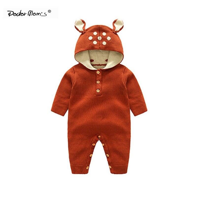 Bodysuits Keep Warm Pink Newborn Baby Boys Girls Solid Rabbit Ear Zipper Romper Jumpsuit Bodysuit Clothes Newborn Photography Props