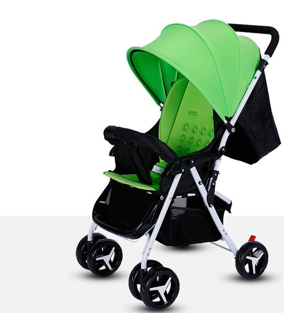 Alta Qualidade Respirável Carrinho de Bebê Bebê Dobrável Carrinho De Bebê Pode Sentar Mentindo C01 Kinderwagen Peso Leve Portátil À Prova de Choque de Carro Do Bebê