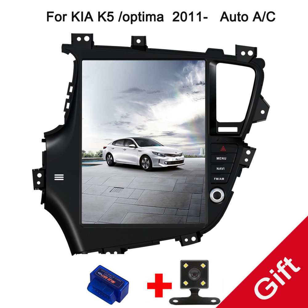 12.9 Tesla Type Android Fit KIA K5/optima 2011 2012 2013 2014 2015 Manual/Auto A/C Car DVD Player Navigation GPS Radio