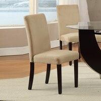 Жесткий Деревяные стулья с удобными сидения набор 2 крем
