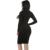 Plus tamaño de invierno de algodón suave estiramiento de cuello alto vestidos de fiesta negro flaco sexy club wear otoño maxi caliente del vendaje de bodycon dress