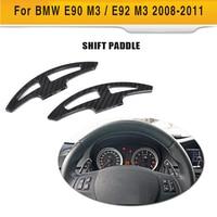 Car Steering Wheel Cover For BMW 3 Series E90 E92 M3 Sedan 4 Door Coupe 2 Door 2008 2011 Decoration Carbon Fiber Shift Paddles