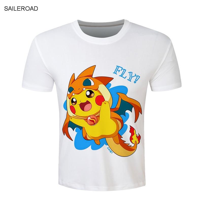 Aliexpress Com Buy S 3xl Pokemon Go Cartoon Men T Shirt
