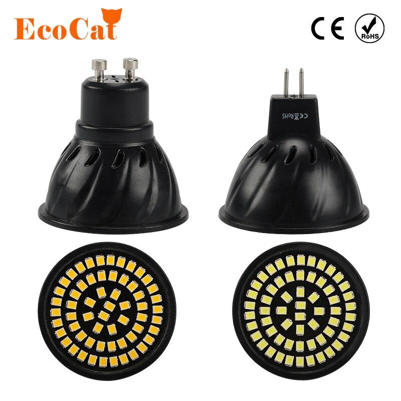 ECO Cat Non flickering GU10 MR16 LED Bulb 3W 4W 220V 240V Lampada Smart IC lamp 60leds 80led