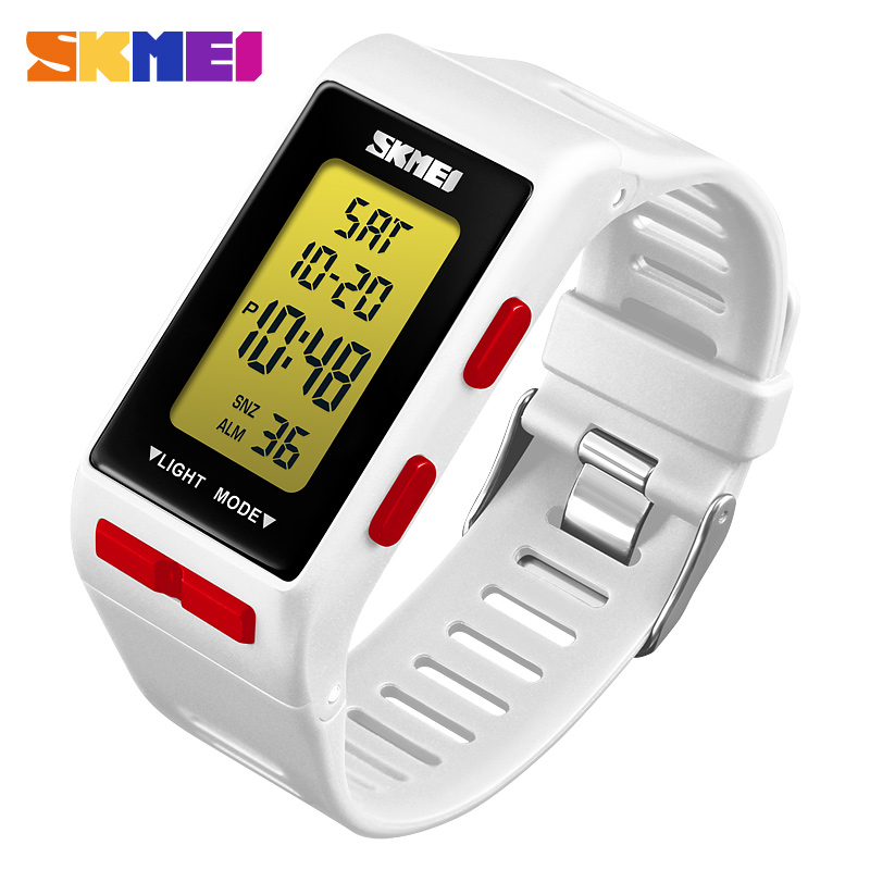 SKMEI Fashion Digital Women Watch Sports Outdoor Watches Time Waterproof Week Display Fashion Personality Relogio Feminino Saat