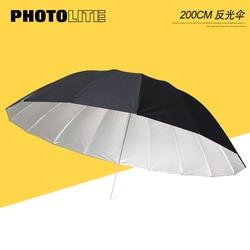 Photography 200cm  Reflective Umbrella Black and  Silver Soft Light umbrella  Studio Flash softbox