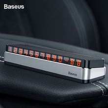 Baseus Car Temporary Parking Card Phone Holder Number Luminous Telephone Plate Car-styling Accessories