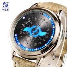 Bebê Digital relógios Xingyunshi famoso design de relógios Digitais relógio de couro do esporte dos homens militares de qualidade superior masculino relógios de luxo