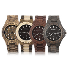 W023a bewell reloj de madera reloj de madera hombres de cuarzo relojes de pulsera con fecha display regalo relogio masculino envío de la gota