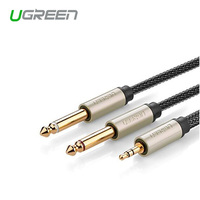Ugreen Gold Plated 3 5mm 1 8 TRS To 6 35mm 1 4 TS Mono Y