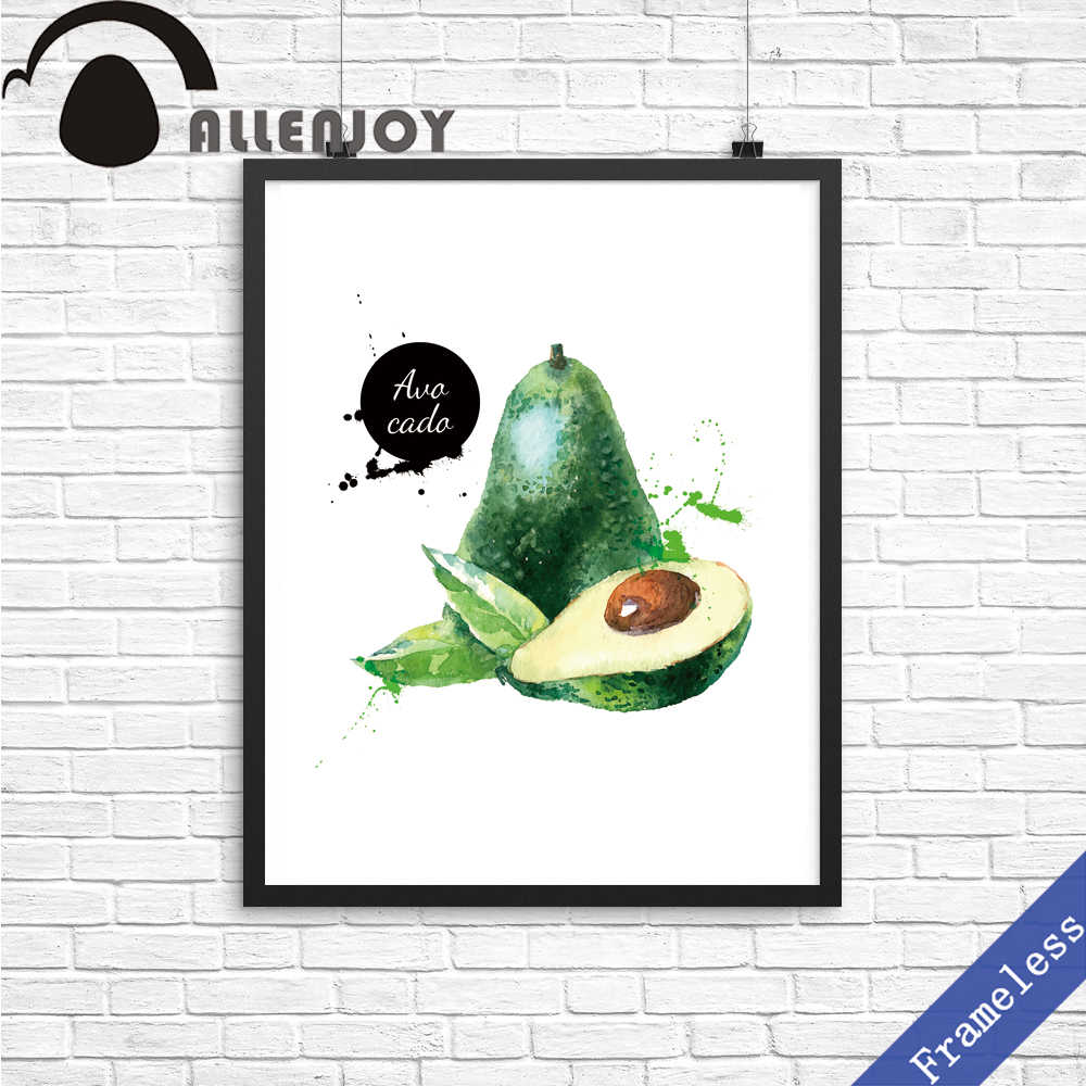 Unframed Obraz Na Płótnie Ręcznie Farby Akwarela Owoce