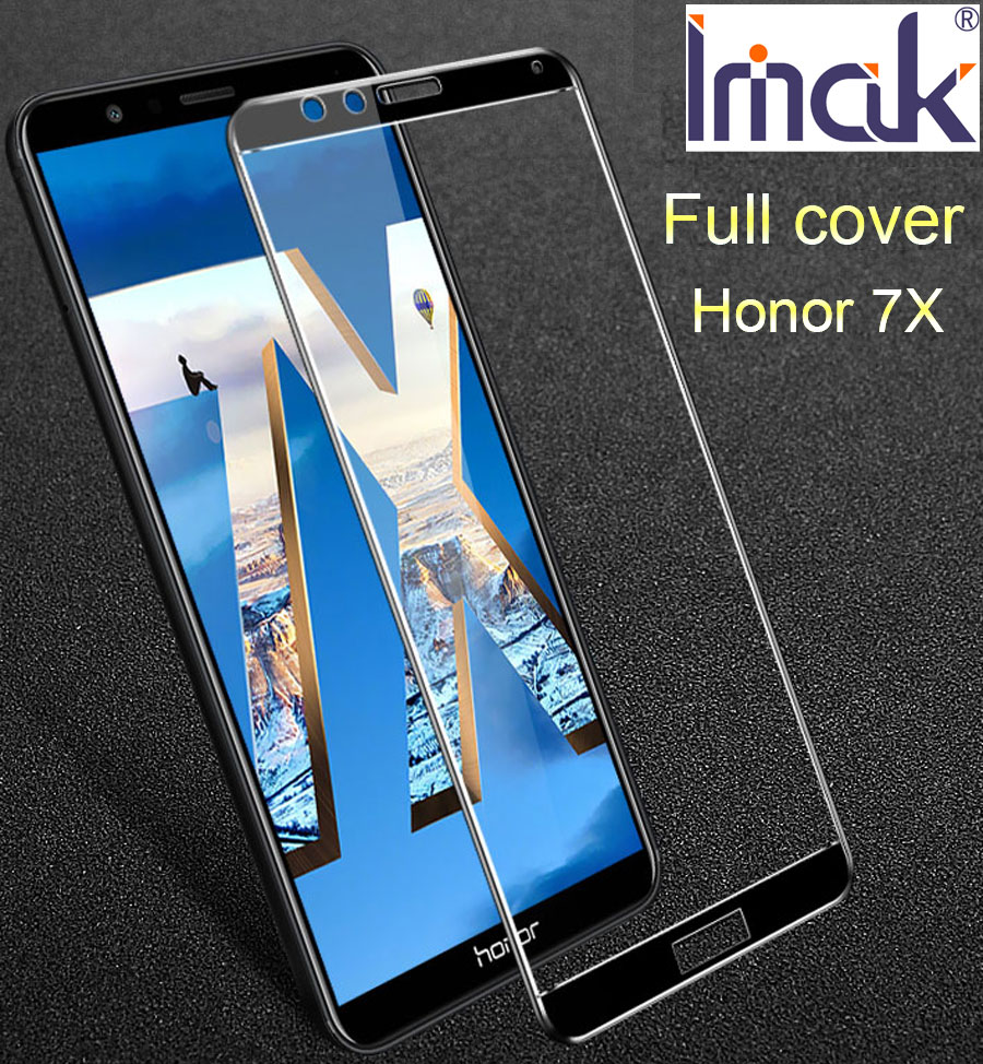 Imak Full Screen Cover Protective Tempered Glass For Huawei Honor 7X 2.5D Curved oleophobic