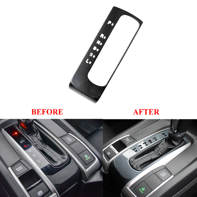 ABS Car Interior Gear Box Console Panel Frame Cover Trim Sticker ...