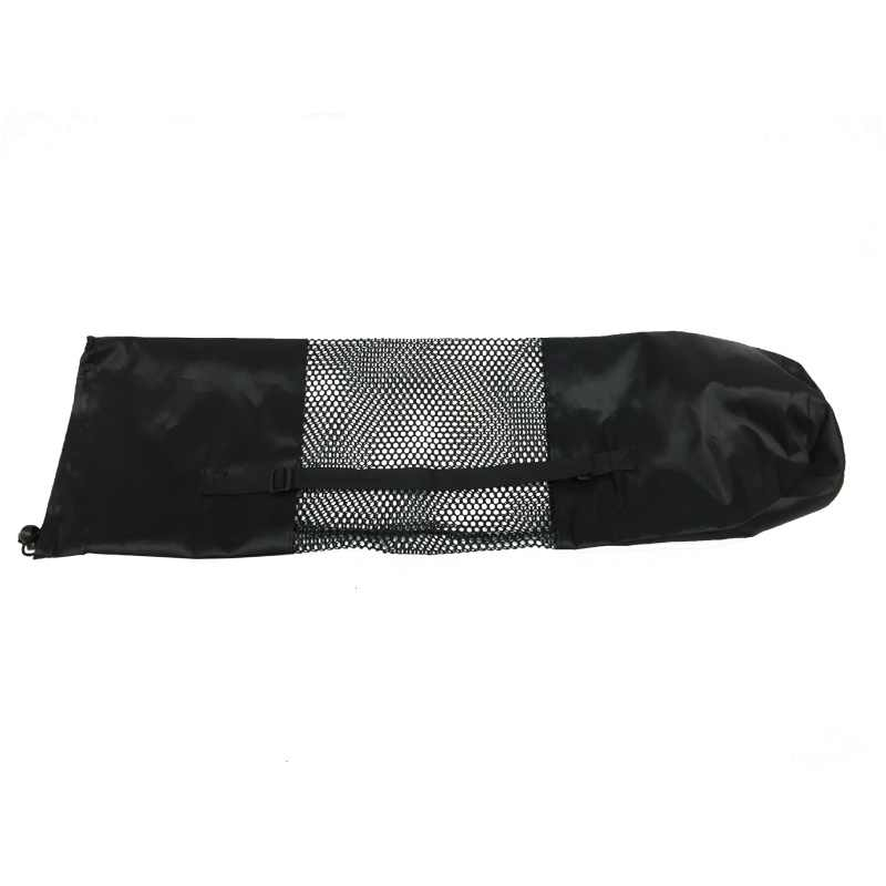 新しいコンビニ黒ポータブルヨガマットバッグケースナイロンピラティスキャリアメッシュ調節可能なストラップスポーツツールスタイル含めないマット