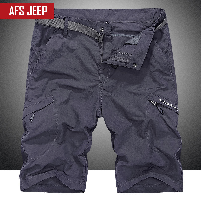 AFS JEEP Plus Size Loose M 5XL Quick drying Waterproof Summer Casual Shorts Men Male Shorts bermuda beach Shorts For Men