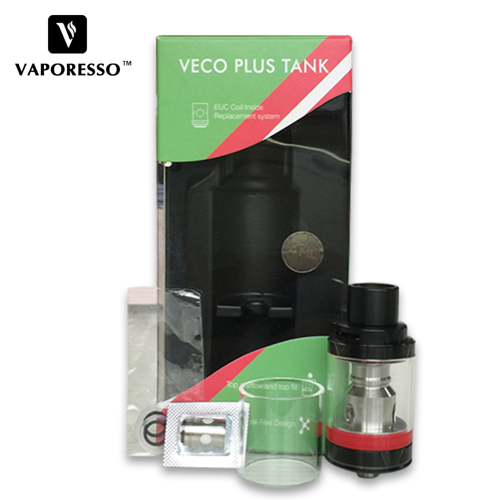 Original Vaporesso VECO Plus Tank 4ml with 0.6hohm EUC Coil Top fill VECO Plus Atomizer for Tarot Nano E-cigarette Vape Tank цена 2017