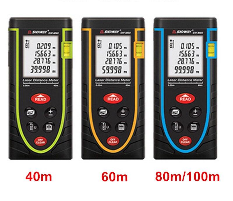 40m/60m/80m/100m Rangefinder Laser Distance Meter Tape Measure Area/Volume Tester Tool Laser Electronic Ruler lazer Metreler akg pae5 m