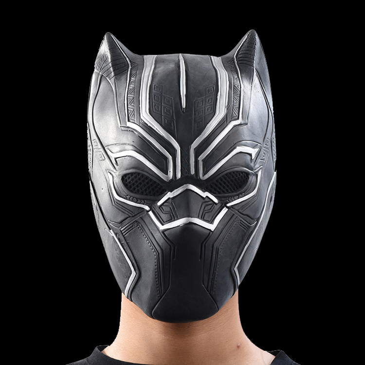 Black Panther Masks Movie Roles Cosplay Costume Adults Halloween Mask Realistic Men