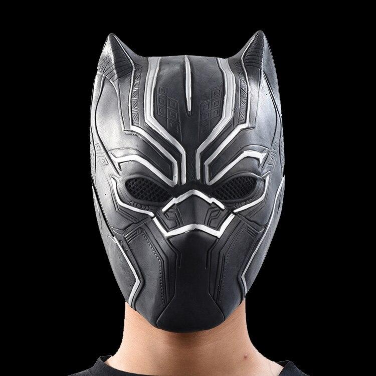 Panthère noire Masques Cinéma Rôles Cosplay Costume Adultes Halloween Masque Réaliste Hommes de Latex Masque De Partie