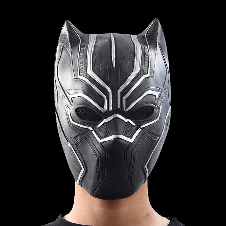 Schwarz Panther Masken Film Rollen Cosplay Kostüm Erwachsene Halloween Maske Realistische männer Latex Partei Maske