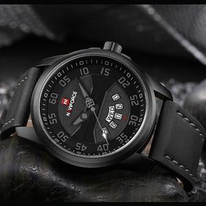 Image 3 - New Luxury Brand NAVIFORCE Men Fashion Casual Watches Mens Quartz Clock Man Leather Strap Army Military Sports Wrist Watch
