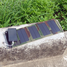 PowerGreen Photo voltaic Bag, Folding Photo voltaic Energy Financial institution, 7 Watts Twin Output Camouflage Photo voltaic Charger, Cellular Cellphone Foldable Photo voltaic Panel