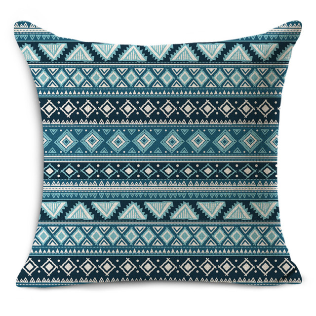 Cheap Car Seat Linen Cushion Nordic Vintage Geometric Outdoor Chair