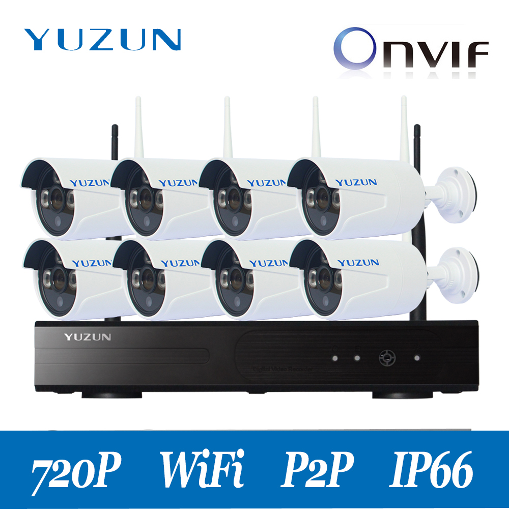 720P 8 channel cctv kit Wireless NVR CCTV System hd camera set for home factory office