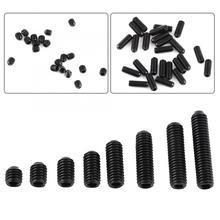 цена на 200pcs/Set M3 Black Steel Set Screw Hex Socket Cup Point Screw Assortment Fasteners