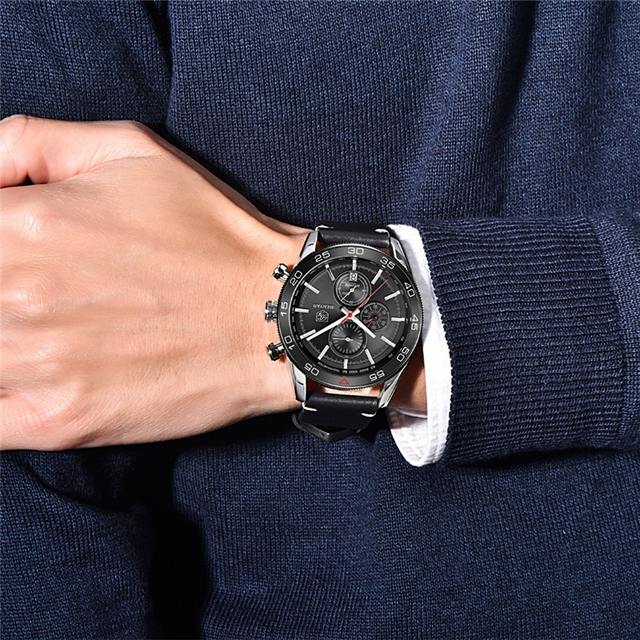Men's Stainless Steel Water Resistant Watch