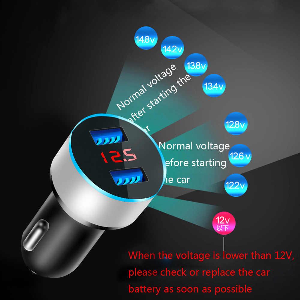Cargador de coche Usb Dual Universal de 5V 3.1A con pantalla LED para coche y cargador de coche para Xiaomi Samsung S8 iPhone X 8 Plus Tablet etc.