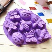 TTLIFE креативная форма насекомых, лоток для льда, силиконовая форма для печенья, конфет, желе, помадка, форма для шоколада, форма для льда