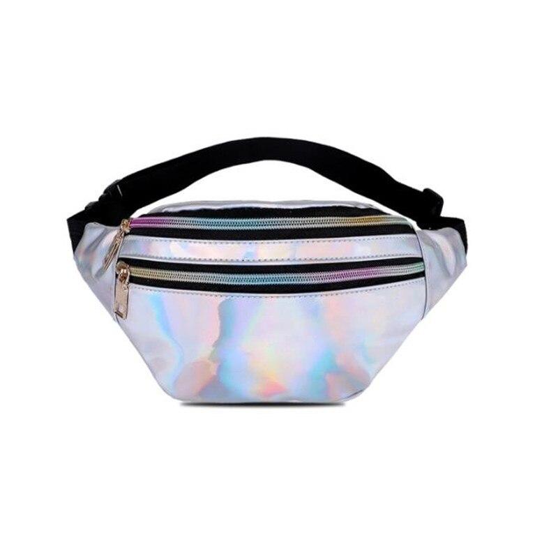 2019 New Fanny Pack Multi-function Steam Punk Leg Fashion  Bag Reflective Laser Shoulder Bag Women's Belt Waist Bag Pochete