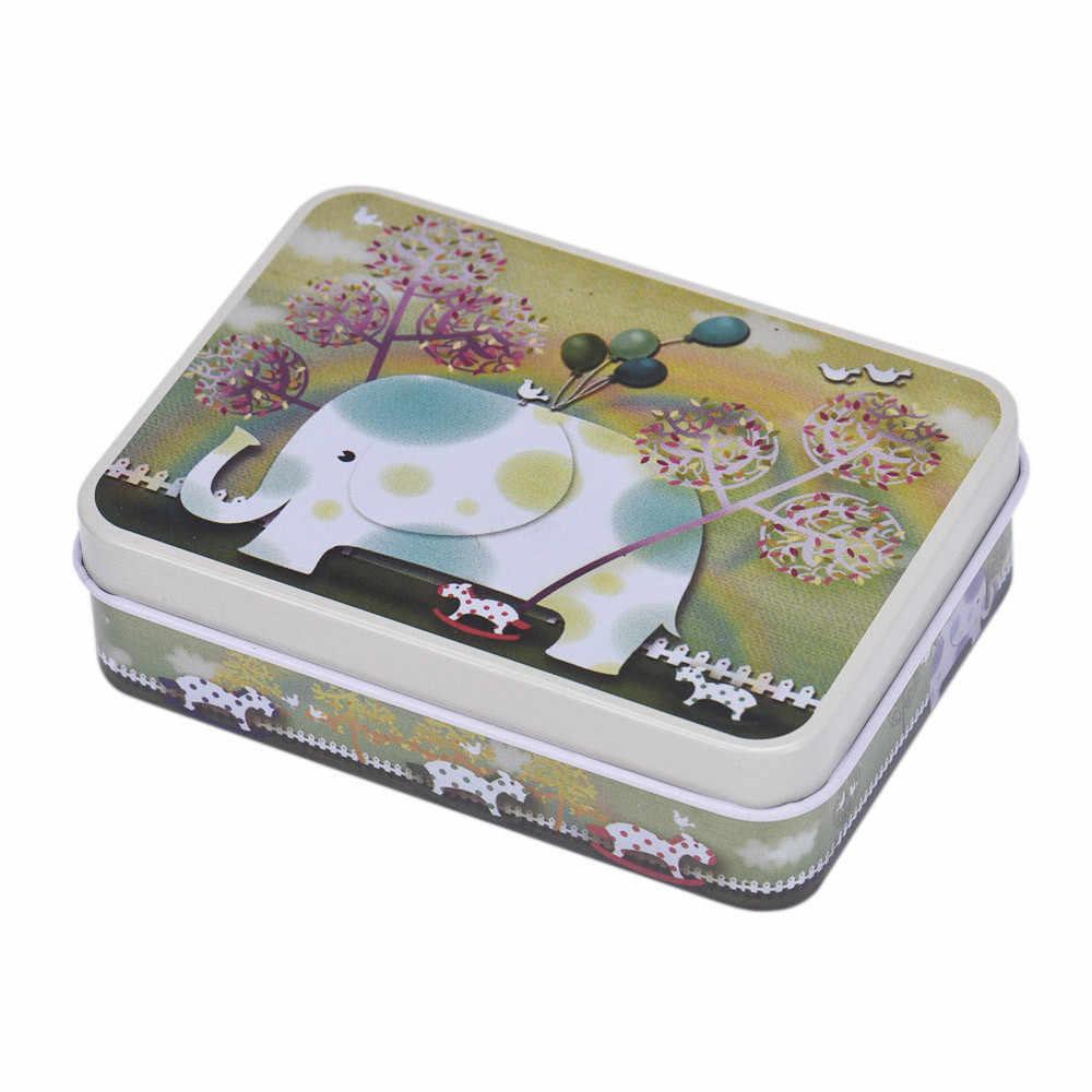 1 шт., маленькие банки для хранения, прямоугольная Подарочная коробка для ювелирных изделий, 9X6,6X2,5 см, сплав, мультяшное украшение для дома, экономия места, коробка для хранения игрушек F111