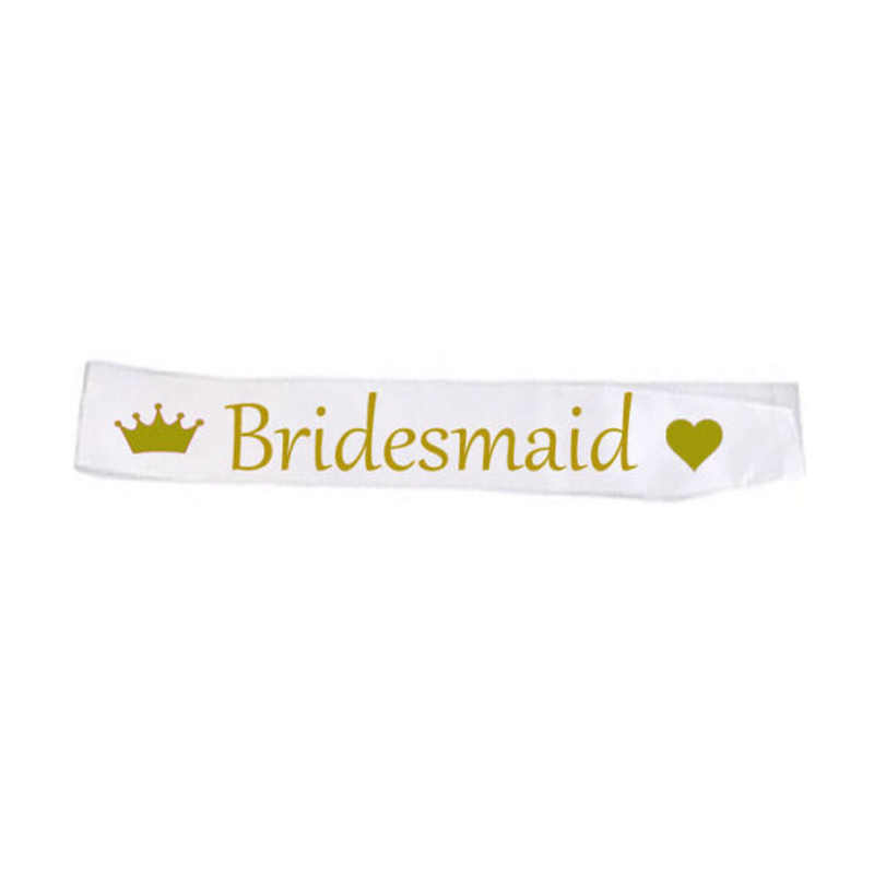 Vrijgezellenfeest White Satin Sash Set Bruid Om Team Bruid Meisjes Voor Bridal Shower Bruiloft Decoraties Bachelorette TB11