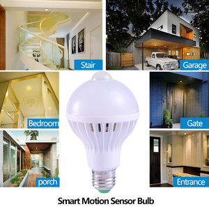 Image 5 - E27 หลอดLedพร้อมMotion Sensor Light 220V 110V PIRหลอดไฟสมาร์ทเด็กNight Light Ampoule Bombillas 5W 7W 9 บ้าน