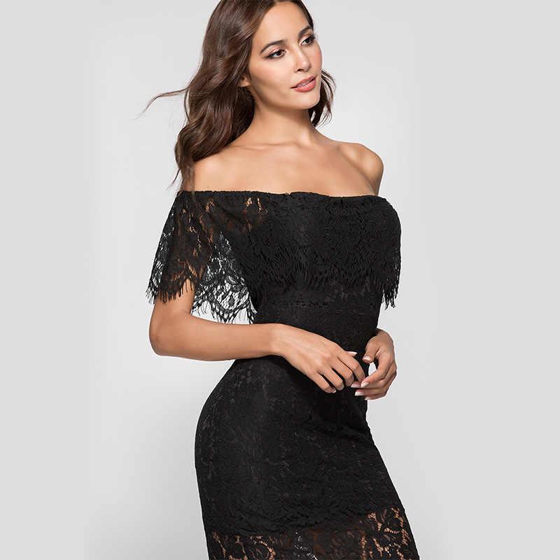 45af1efb8faa ... Лето 2018 Платья высокого качества Женская Сексуальная спинки кружевной  воротник, платье с длинными рукавами Vestidos