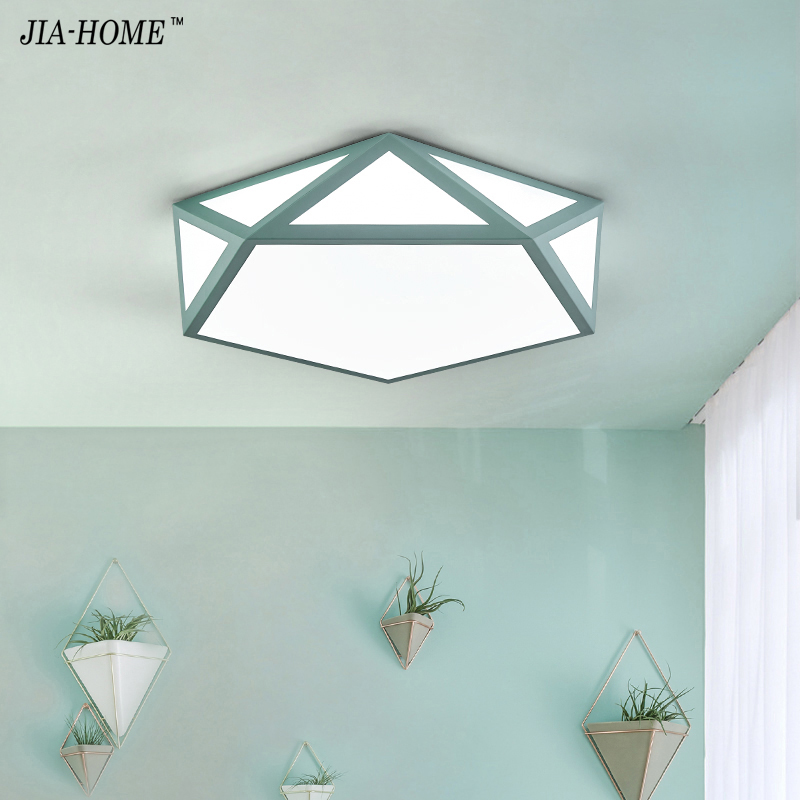 Personality Ceiling Lights For Living Room Bedroom green pink white black body Indoor Lighting Ceiling Lamp Fixture AC96-220V